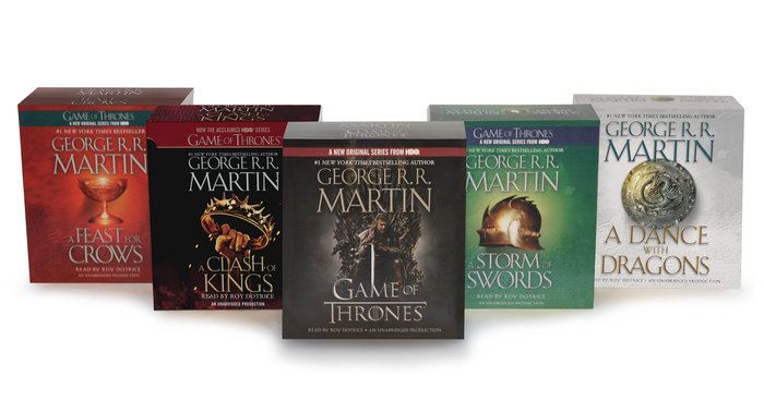 George R  R  Martin Song of Ice and Fire Audiobook Bundle by