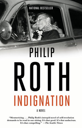 The cover of the book Indignation