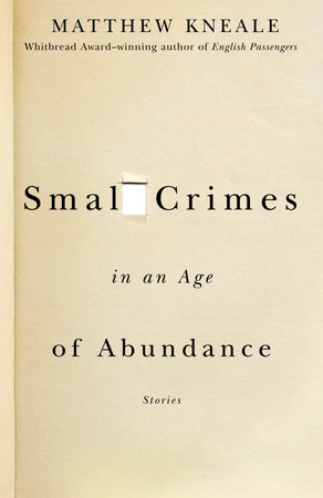 Small Crimes in an Age of Abundance by Matthew Kneale