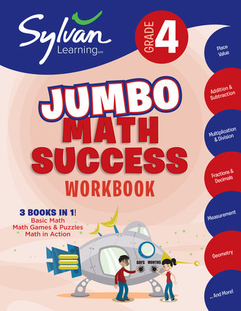 4th Grade Jumbo Math Success Workbook by Sylvan Learning