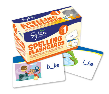 1st Grade Spelling Flashcards by Sylvan Learning