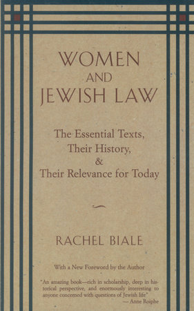 WOMEN & JEWISH LAW by Rachel Biale