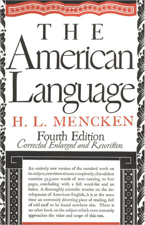 American Language by H.L. Mencken