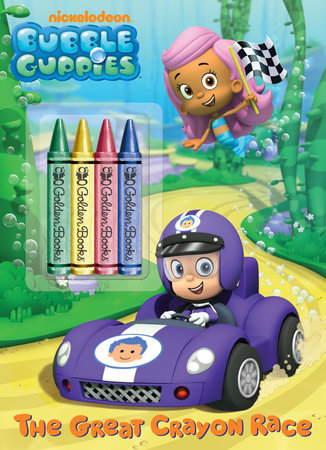 The Great Crayon Race (Bubble Guppies) by Golden Books