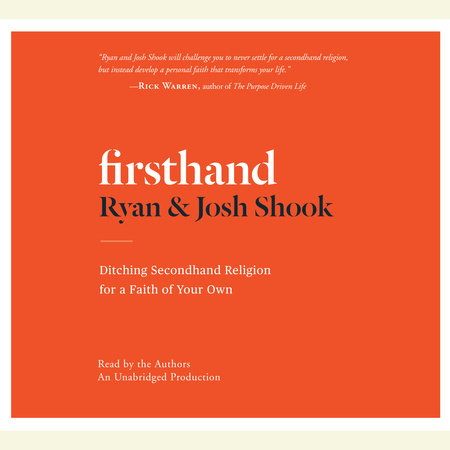 Firsthand by Ryan Shook and Josh Shook