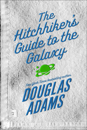 The cover of the book The Hitchhiker's Guide to the Galaxy