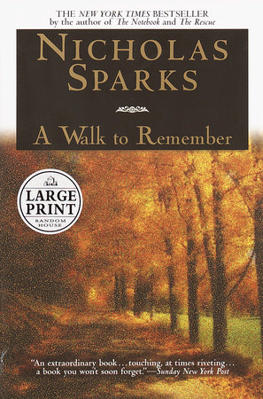 A Walk to Remember Book Cover Picture