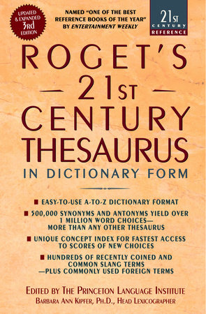 The cover of the book Roget's 21st Century Thesaurus