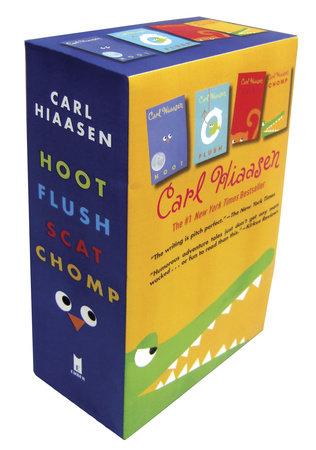 Hiaasen 4-Book Trade Paperback Box Set (Chomp, Flush, Hoot, Scat) by Carl Hiaasen
