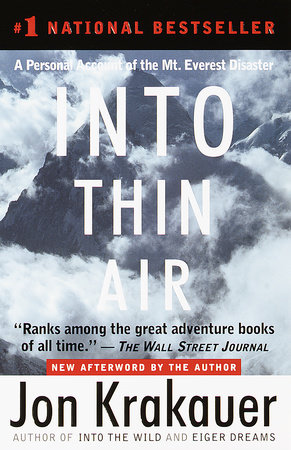 Into Thin Air Book Cover Picture
