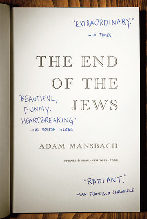 The end of the jews by adam mansbach penguinrandomhouse the end of the jews by adam mansbach fandeluxe Epub
