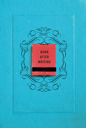 The cover of the book Burn After Writing