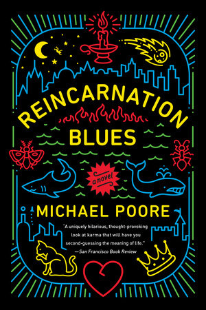 The cover of the book Reincarnation Blues