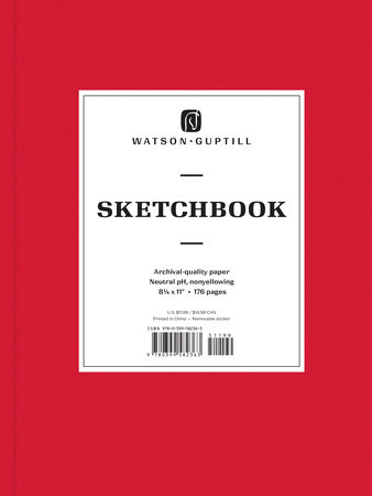 Large Sketchbook (Ruby Red)