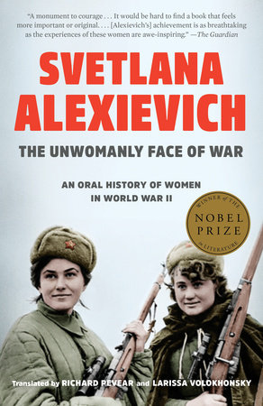 The cover of the book The Unwomanly Face of War
