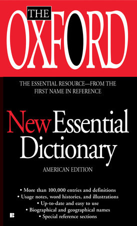 The cover of the book The Oxford New Essential Dictionary