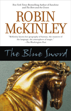 The cover of the book The Blue Sword