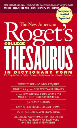 New American Roget's College Thesaurus in Dictionary Form (Revised & Updated) by Philip D. Morehead