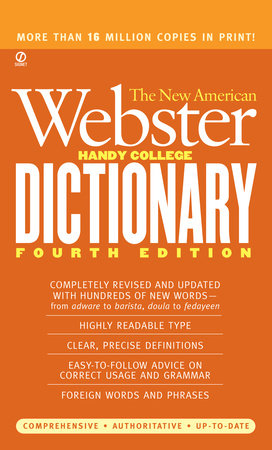 The New American Webster Handy College Dictionary by Philip D. Morehead