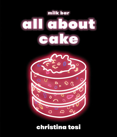 The cover of the book All About Cake