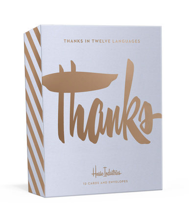 Thanks in Twelve Languages by House Industries