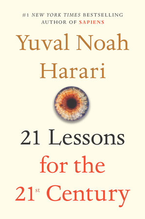 The cover of the book 21 Lessons for the 21st Century