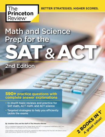 Math and Science Prep for the SAT & ACT, 2nd Edition by Princeton Review