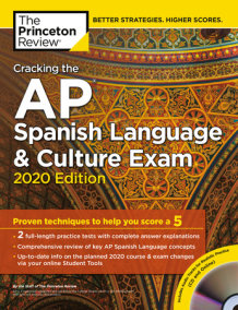 Cracking the AP Spanish Language & Culture Exam with Audio CD, 2020 Edition