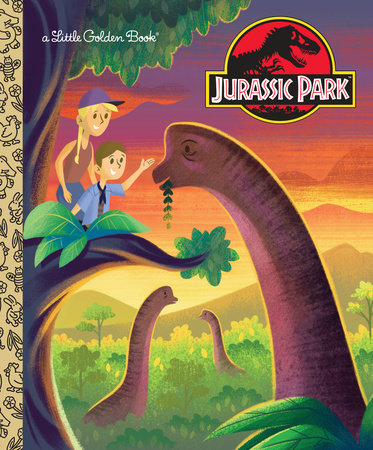 Jurassic Park Little Golden Book (Jurassic Park) by Arie Kaplan; illustrated by Josh Holtsclaw