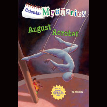 Calendar Mysteries #8: August Acrobat Cover