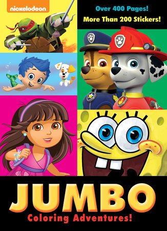 Jumbo Coloring Adventures Nickelodeon By Golden Books