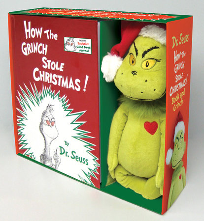 How the Grinch Stole Christmas Book and Grinch by Dr Seuss