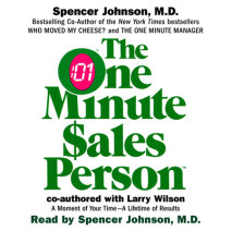 The One Minute Salesperson Cover