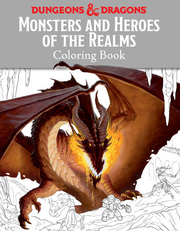 Monsters and Heroes of the Realms: A Dungeons & Dragons Coloring ...