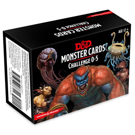 Dungeons & Dragons Spellbook Cards: Monsters 0-5 (D&D Accessory)