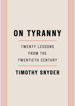 The cover of the book On Tyranny