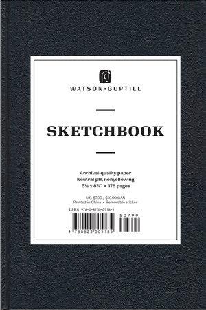 Medium Sketchbook (Kivar, Black) by Watson-Guptill