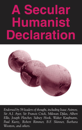 A Secular Humanist Declaration
