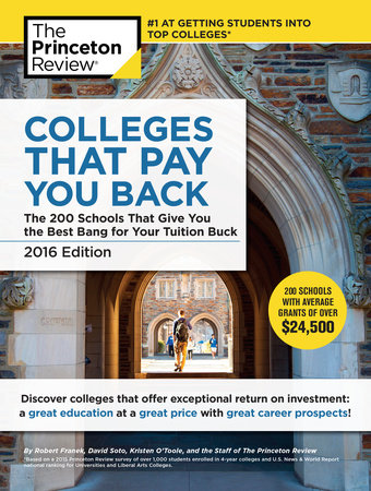 Colleges That Pay You Back, 2016 Edition