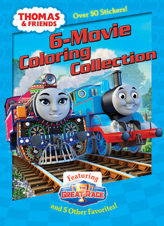 Thomas Friends 6 Movie Coloring Collection By Golden Books