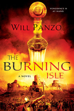 The cover of the book The Burning Isle