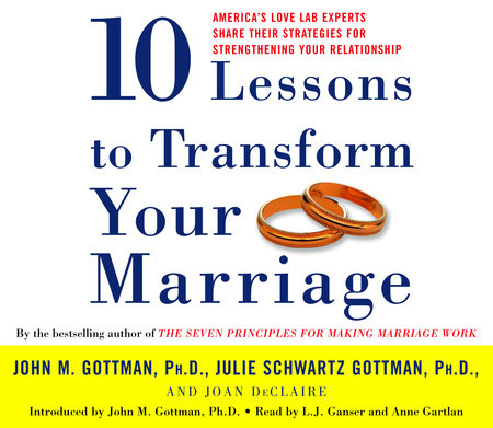 Ten Lessons To Transform Your Marriage by John Gottman, PhD
