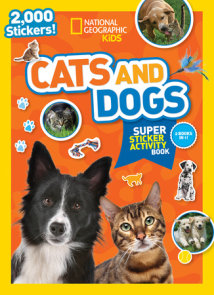 National Geographic Kids Cats and Dogs Super Sticker Activity Book
