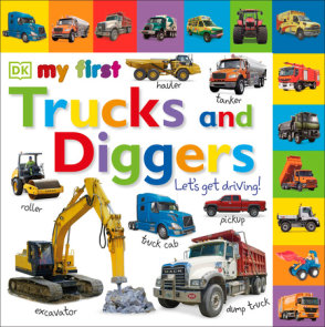 Tabbed Board Books: My First Trucks and Diggers