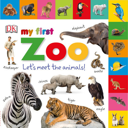 Tabbed Board Books: My First Zoo by DK