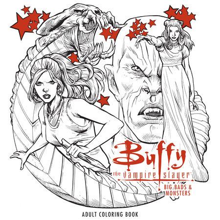 Buffy The Vampire Slayer Big Bads Monsters Adult Coloring Book By Fox
