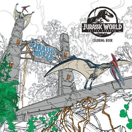 Jurassic World Fallen Kingdom Adult Coloring Book By Universal