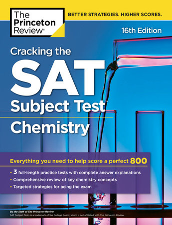Cracking the SAT Subject Test in Chemistry, 16th Edition by Princeton Review