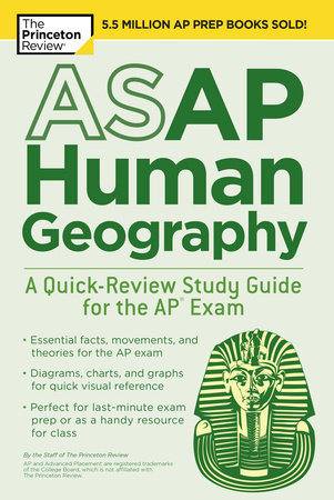 ASAP Human Geography: A Quick-Review Study Guide for the AP Exam by Princeton Review