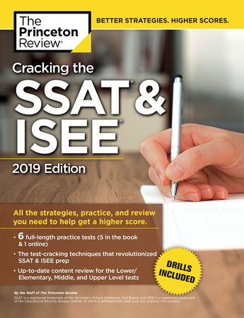Cracking the SSAT & ISEE, 2019 Edition by Princeton Review